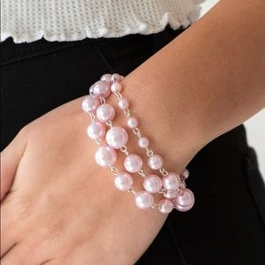 Classic Pink Pearl Bracelet NWT